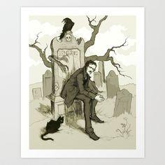 Edgar Allan Poe Art Print by Abigail Larson - $15.00