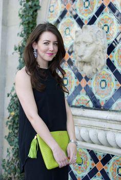 GiGi New York | Dallas Wardrobe Fashion Blog | Lime Uber Clutch
