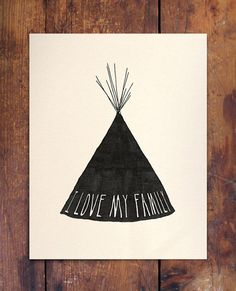 I Love My Family Print by Beauchamping