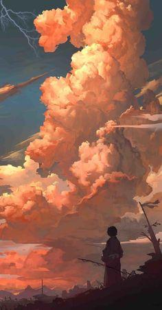 30 Kunstwerke Hintergrundbilder - Best of Wallpapers for Andriod and ios Fantasy Landscape, Landscape Art, Fantasy Art, Landscape Design, Ciel Art, Anime Scenery Wallpaper, Music Wallpaper, Ocean Wallpaper, Wallpaper Samples