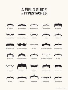 Typography + mustaches = typestaches!