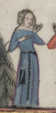 Some belt action --- Romance of Alexander. Bodleian Library MS.Bodl. 264 fol. 204 (1338-44)