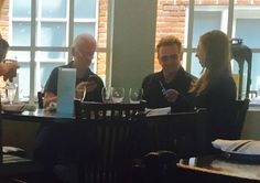 Former President Clinton & Chelsea Grab Lunch With U2's Bono at Humboldt Restaurant in Denver | Crepes & Watermelon