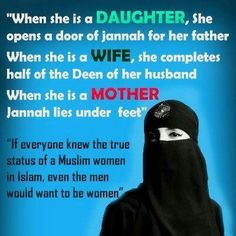 Muslim Women Maybe they would but it seems you have many in and outside the faith to convince about the status of women