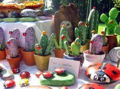 painted rocks cacti