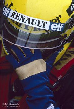 Senna: Glove And Helmet