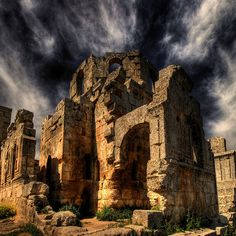 * Syria - St. Simeon Church -  It is the oldest surviving Byzantine church, dating back to the 5th century. *