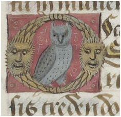 """O"" is for owl. BNF Latin 1173 http://gallica.bnf.fr/ark:/12148/btv1b8432895r/f33.item"