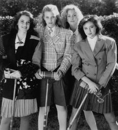 "Still of Winona Ryder, Shannen Doherty, Lisanne Falk and Kim Walker in Heathers. Veronica Sawyer: Dear Diary: Heather told me she teaches people ""real life."" She said, real life sucks losers dry. You want to fuck with the eagles, you have to learn to fly. I said, so, you teach people how to spread their wings and fly? She said, yes. I said, you're beautiful."