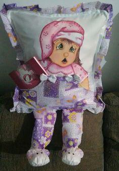 Capa para almofada menina soninho