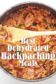 The Best Dehydrated Backpacking Meals to Bring on Your Next Trip Every backpacker knows that the best way of eating well on the trail is to have prepared dehydrated meals. Dehydrated Backpacking Meals, Backpacking Food, Dehydrated Meals, Camping Meals, Ultralight Backpacking, Canoe Camping, Motorcycle Camping, Camping Hammock, Outdoor Camping