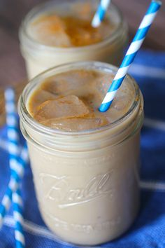 Iced+Coffee with strong brewed or instant coffee and use half and half (or I would use French Vanilla International Delight sugar free).