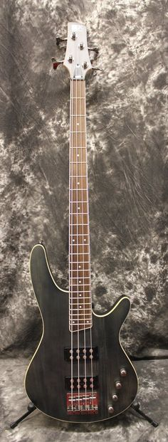 2006 Ibanez SRX390 IPF 4 String Electric Bass Guitar Iron Pewter Flat
