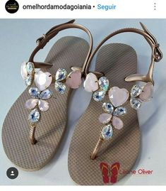 Flip Flop Boots, Flip Flop Sandals, Designer Flip Flops, Flip Flop Craft, Shabby Chic Art, Bohemian Sandals, Chanel Sandals, Designer Sandals, Wedge Boots