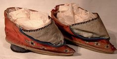 Antique Pair Chinese Silk Lotus Shoes Boots for Bound Feet 1890 1900 Late Qing period by FionaKennyAntiques