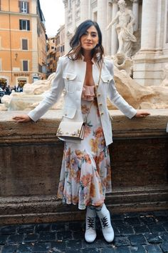 2ef685023114 Exploring Rome in a Floral midi dress