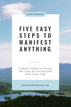 five easy steps to manifest anything! Law of Attraction Manifest Gratitude Manifestation Journal, Manifestation Law Of Attraction, Law Of Attraction Affirmations, Law Of Attraction Money, Law Of Attraction Quotes, Wealth Affirmations, Positive Affirmations, To Manifest, Stress And Anxiety