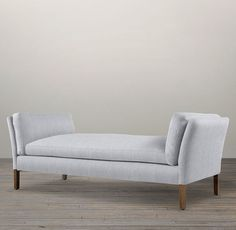 RH's 6' Sorensen Upholstered Bench:Danish mid-century modern designers like Ole Wanscher often found their muse in the classical forms of Egypt, Greece and China. We've given his work new expression in our spare and elegant bench, which has the slightly flared arms and self-possessed style of its forebears.