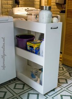 Laundry Room Slim Rolling Storage Cart - Free Plans - Rogue Engineer