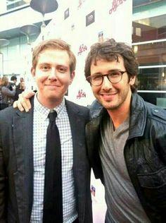 OMG...Josh and Chris Groban...bros 4ever!
