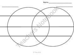 Venn Diagram With Lines from Fit for Firsties on TeachersNotebook.com (5 pages)