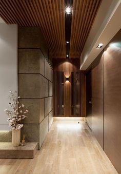 GUO | The Ocean 2 on Behance Entrance Foyer, Small Entrance Halls, Main Entrance, Entryway Decor, Tree Interior, Hall Interior Design, Interior Design Photography, Lobby Interior, Hall Design