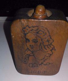 Other Hawaiian Collectibles Hawaiian Art, Vintage Hawaiian, Hula Girl, Perfume Bottles, Carving, Antiques, Big, Wood, Antiquities