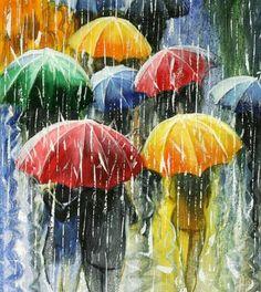 Paraguas, parapluits, umbrellas.