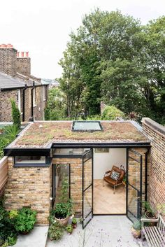 The Greenwich Garden Studio is partly built from bricks reclaimed from the old washhouse and garden walls and the openings which are glazed . Outdoor Office, Backyard Office, Garden Office Shed, Backyard Studio, Shed Design, Garden Design, Garden Cabins, Garden Buildings, House Extensions