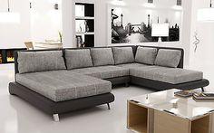 Sofa Couchgarnitur Ecksofa Big Wohnlandschaft Couch ONTARIO 4 Wohnlandschaft