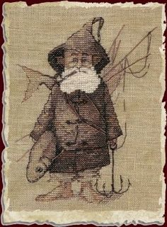 Nimue Cross Stitch Chart # 54 - Le Pecheur - The Fisherman #Nimue
