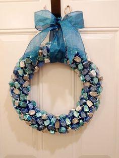 Dreidel Hanukkah wreath