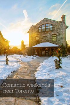 Experiential weekends away near Toronto...
