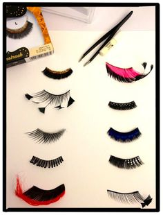 How cool are these crazy lashes by Make Up For Ever and Katy Perry?! (Hers are the top left and middle three on the right.)