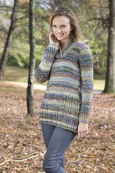 Stairstep Tunic Free Knitting Pattern