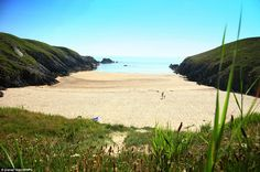 Seclusion: A cove near Porth Iago, located on the Llyn Peninsula West Wales. The writer has visited all of the beaches