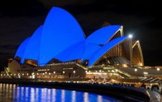 The Sydney Opera House in Australia, lit up blue for autism awareness | Parenting.com