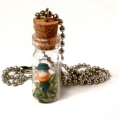 Wee bit o' luck around my neck!  St Patrick's Day Necklace  Tiny Terrarium by creativityismessy, $24.00