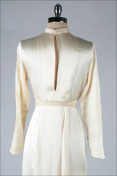 1stdibs.com | Vintage 1930's Ivory Silk Satin Wedding Dress