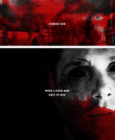 [gifset] Demons run when a good man goes to war. #SPN #Dean #DemonDean
