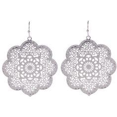 Flower Power Earrings (340 BRL) ❤ liked on Polyvore featuring jewelry, earrings and earrings jewelry