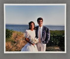 Caroline's wedding with John- sweet picture