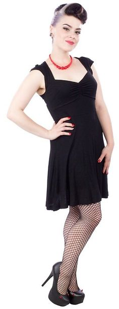 Women's Sourpuss Vavavoom Dress Black Rockabilly Retro Pinup #Sourpuss #dresses