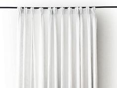 Linen pinch pleat curtains