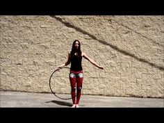 "Remember the girl that choreographed an insane hula hoop routine to Maklemore's ""Thrift Shop"" and landed herself on The Queen Latifah Show ? Well now she's back, and she has yet another jaw-dropping hula hoop routine for us. 