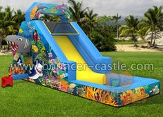 GWS-134 Ocean Slide Size meter:7.5mLx3mWx4mH Size feet: 25ftLx10ftWx13ftH #oceanslide #inflatablesale