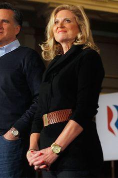 ann romney | Ann Romney en tenue ceinturée - Ann Romney, la dame en rouge - L ...