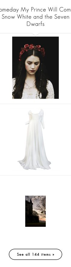 """""""Someday My Prince Will Come: Snow White and the Seven Dwarfs"""" by thestars-themoon ❤ liked on Polyvore featuring pictures, people, adelaide kane, pics, reign, dresses, gowns, long dresses, wedding and norma kamali dress"""