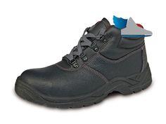 Ćierna, pracovná členková obuv.