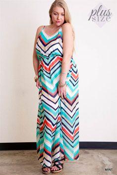 Multi Color Chevron Maxi Dress - #blondellamydean